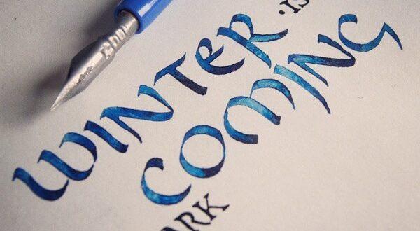каллиграфия winter is coming Stark