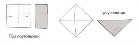 Базовые складки и формы оригами 1