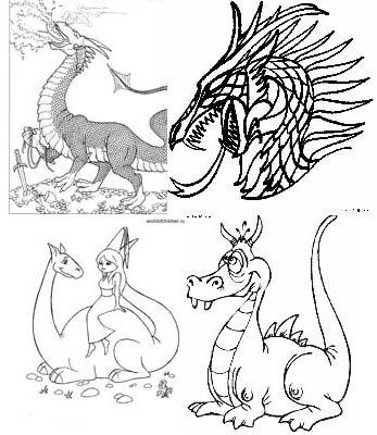 "Раскраска ""Драконы"" 1"