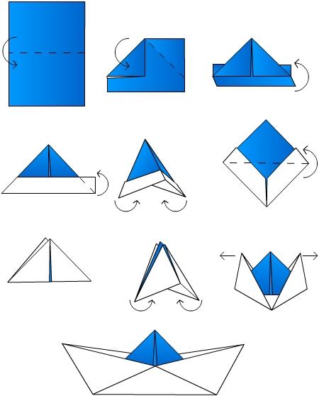 """Оригами """"Кораблик"""" 1"""