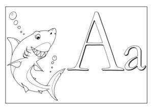 азбука - раскраска скачать бесплатно